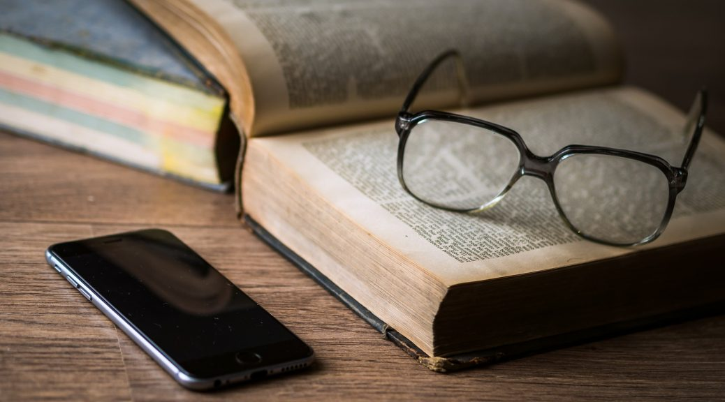 Glasses, Phone, Book